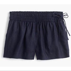J Crew Linen Side Tie Shorts EUC